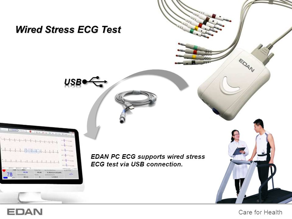 Wired Stress ECG Test USB