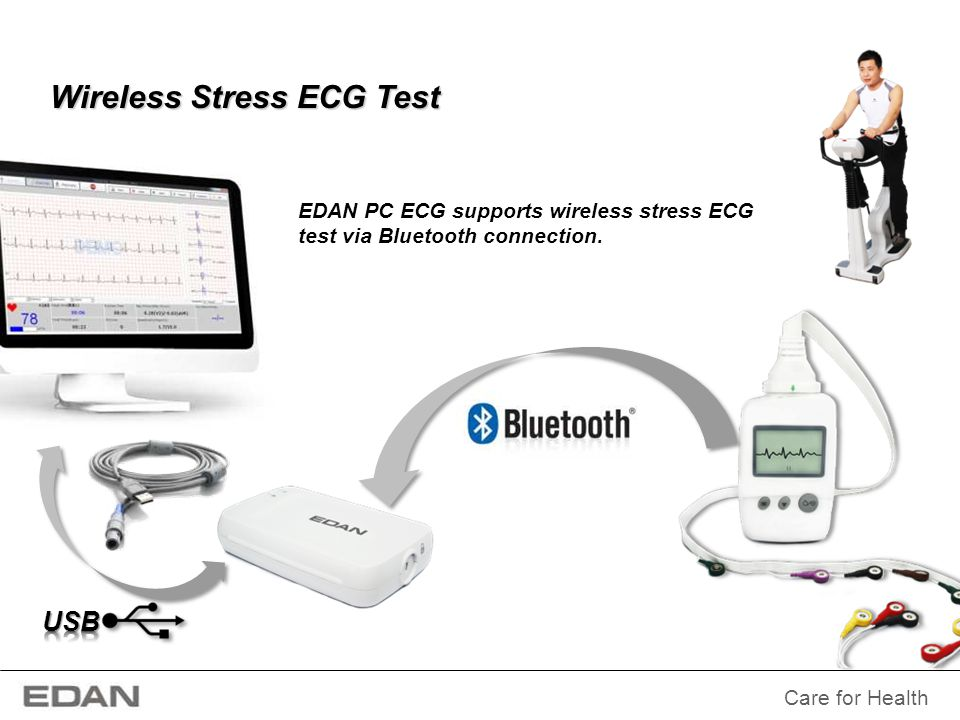 Wireless Stress ECG Test