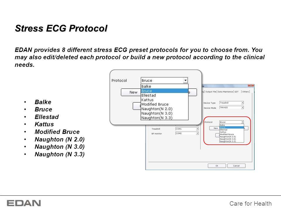 Stress ECG Protocol