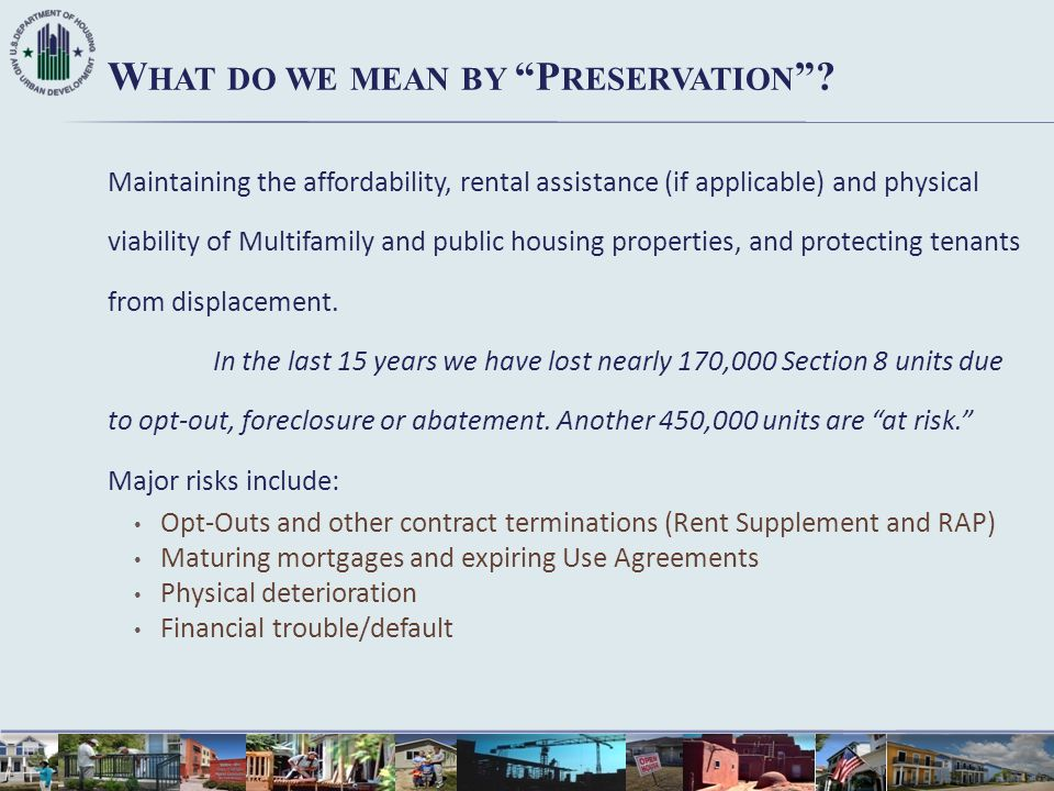 What do we mean by Preservation