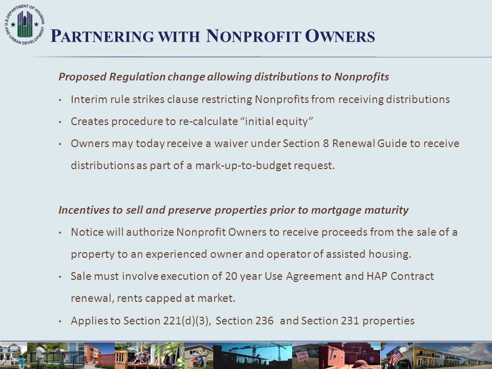 Partnering with Nonprofit Owners