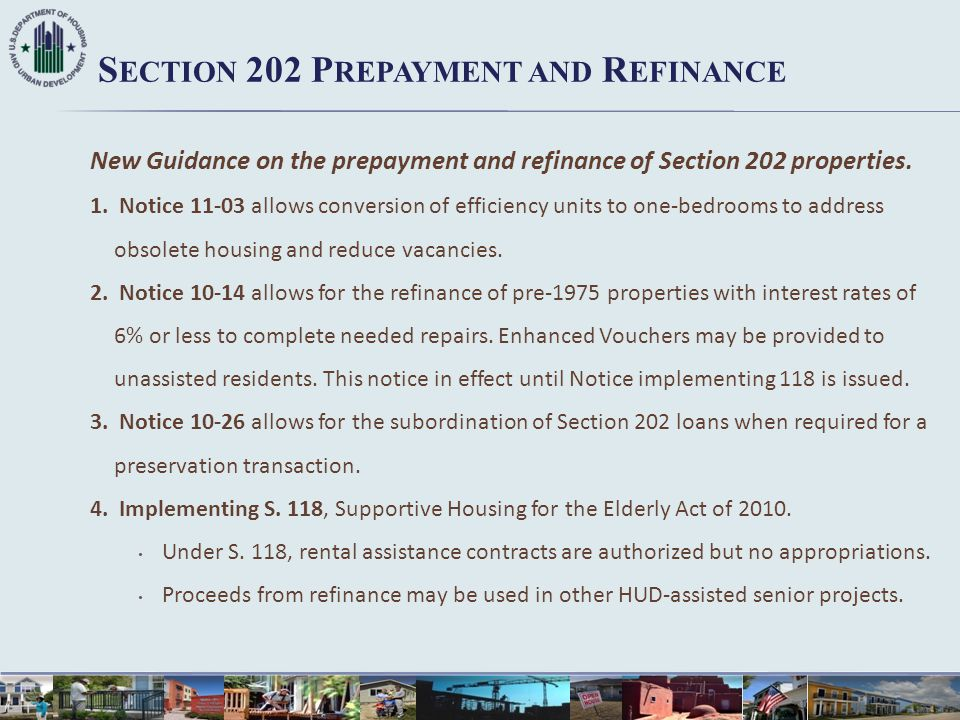 Section 202 Prepayment and Refinance