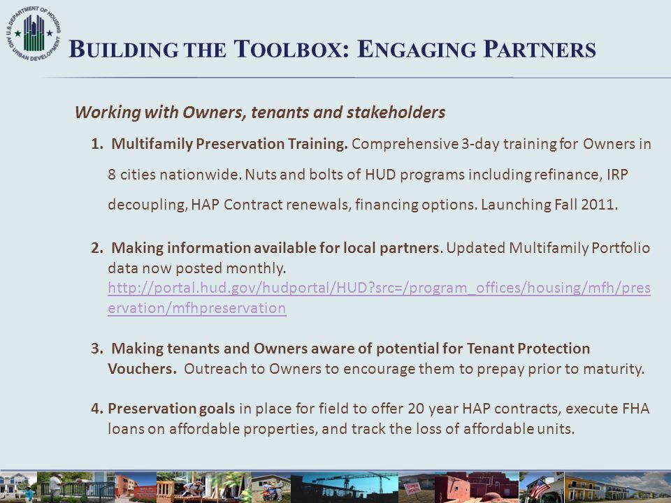 Building the Toolbox: Engaging Partners