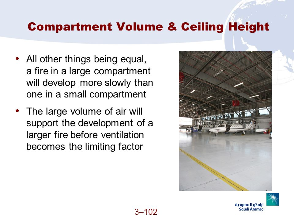 Compartment Volume & Ceiling Height