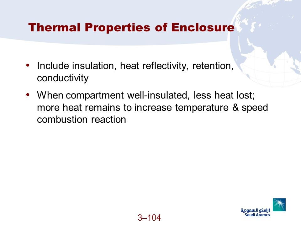Thermal Properties of Enclosure