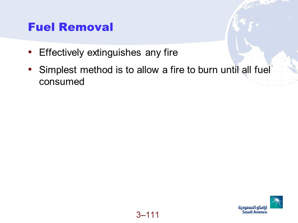Fuel Removal Effectively extinguishes any fire