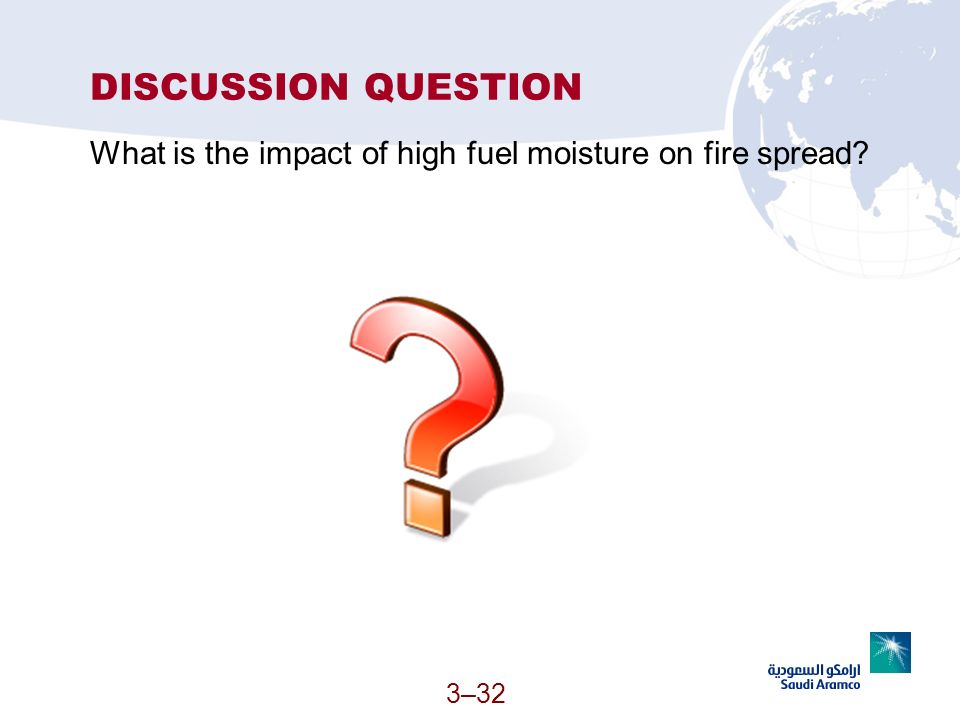 DISCUSSION QUESTION What is the impact of high fuel moisture on fire spread