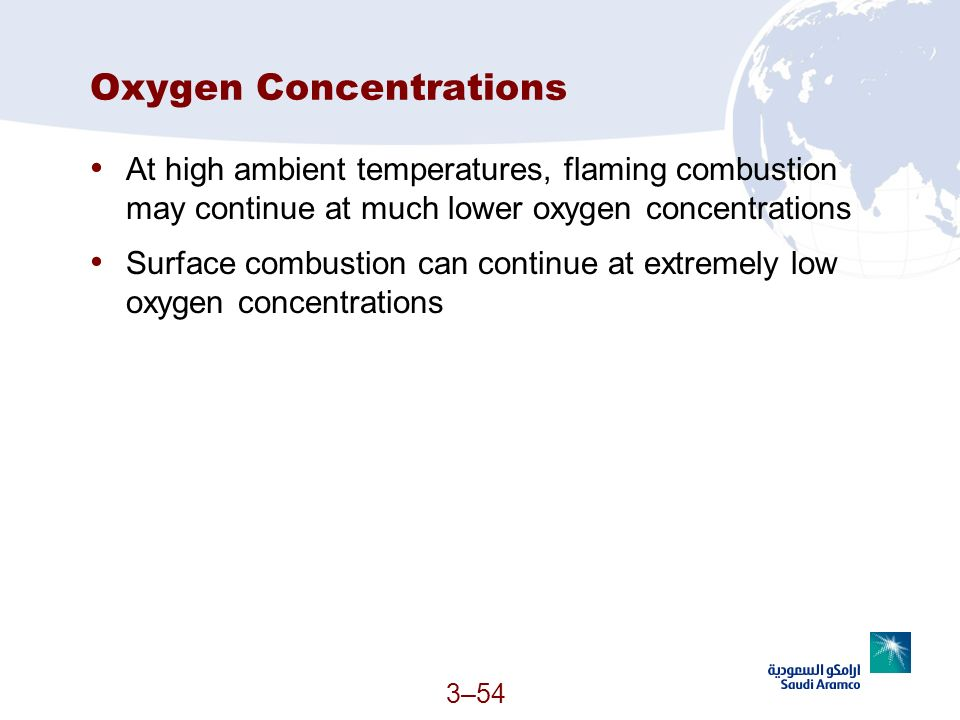 Oxygen Concentrations
