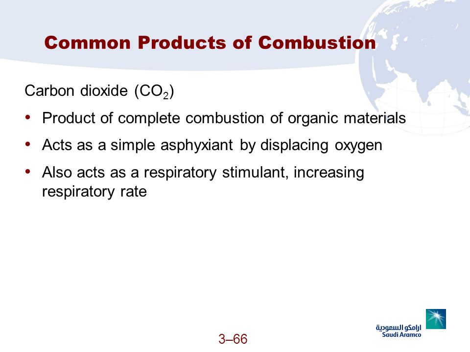 Common Products of Combustion