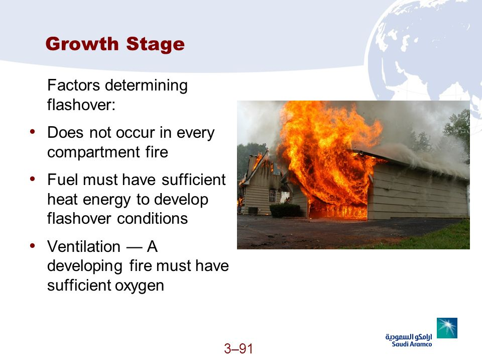 Growth Stage Factors determining flashover: