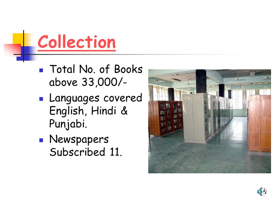 Collection Total No. of Books above 33,000/-