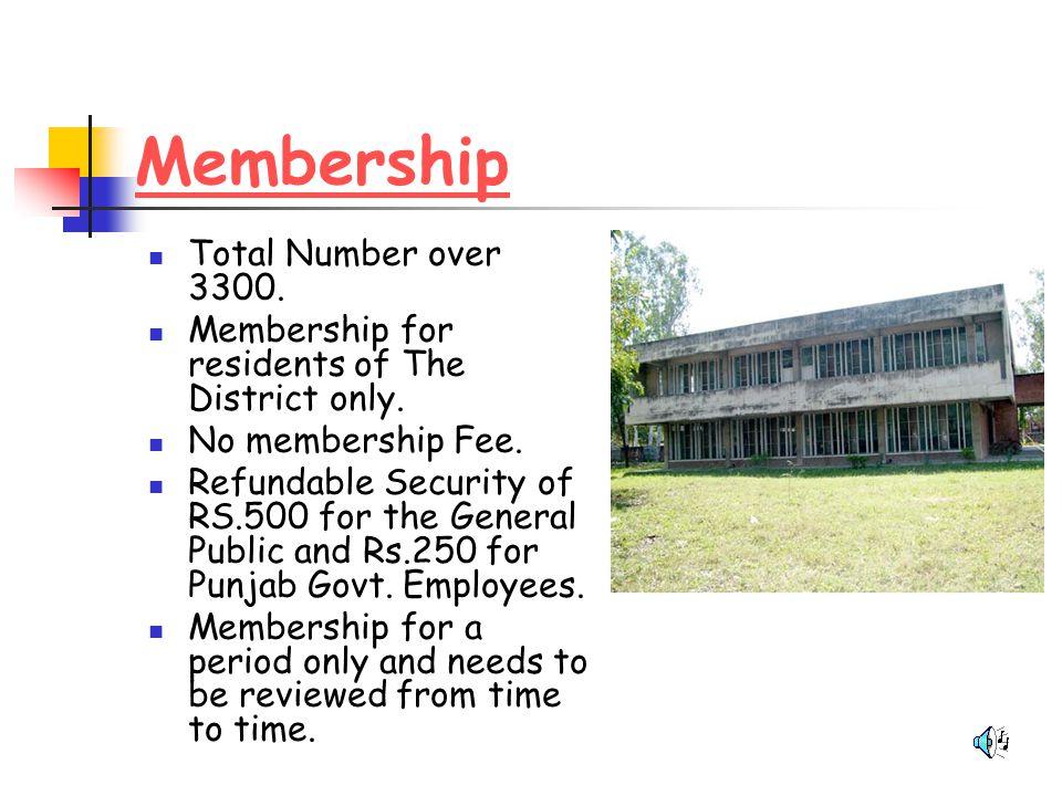 Membership Total Number over 3300.