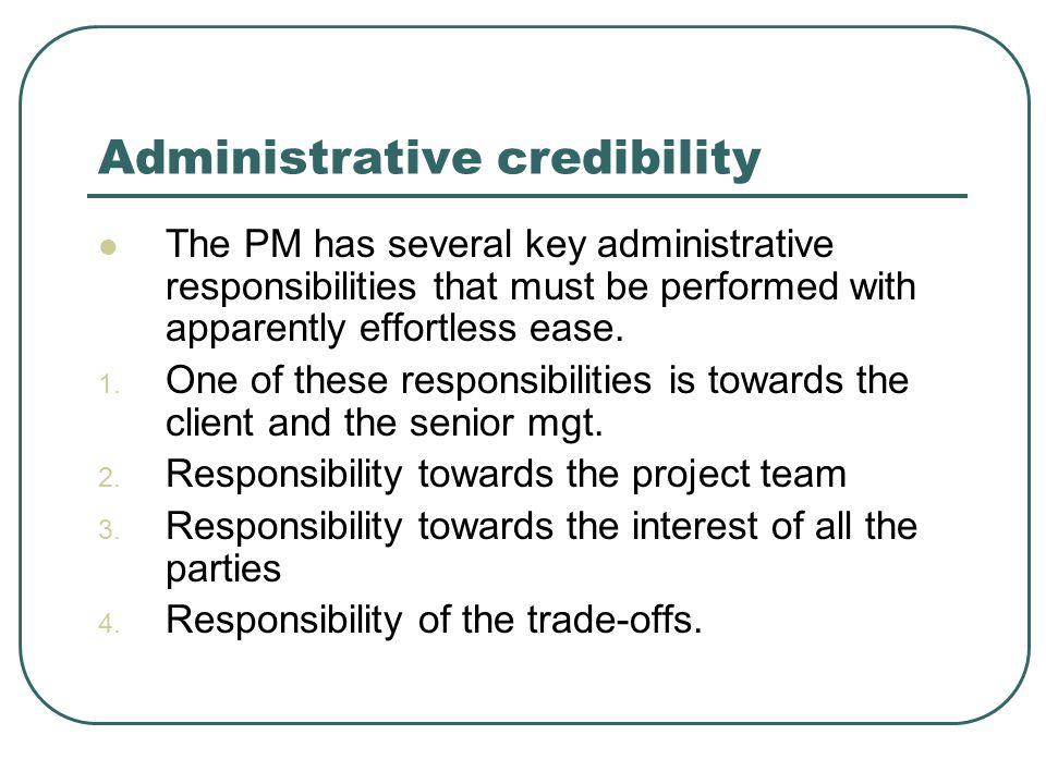 Administrative credibility