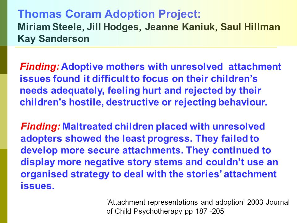 Thomas Coram Adoption Project: