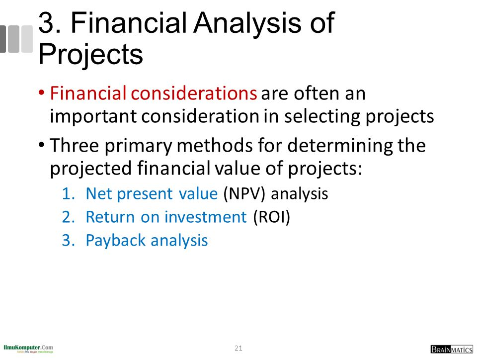 3. Financial Analysis of Projects
