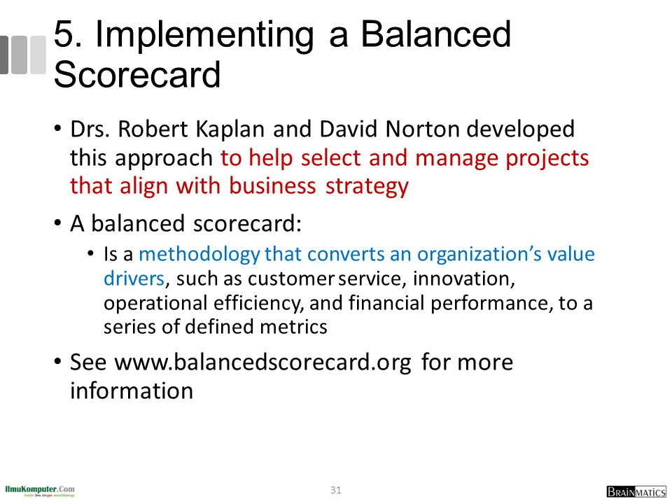 5. Implementing a Balanced Scorecard