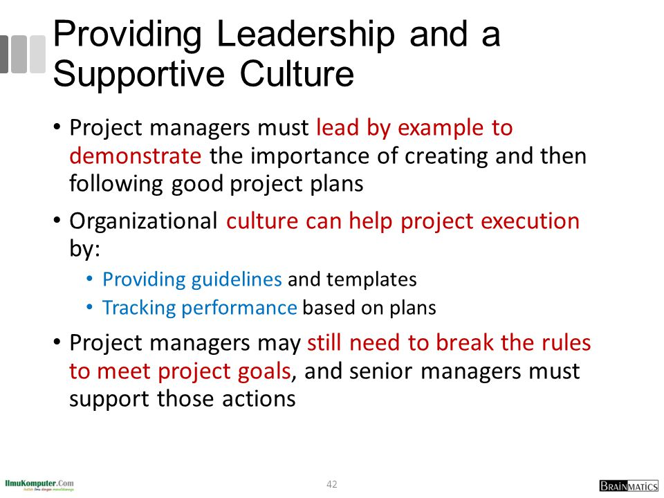 Providing Leadership and a Supportive Culture