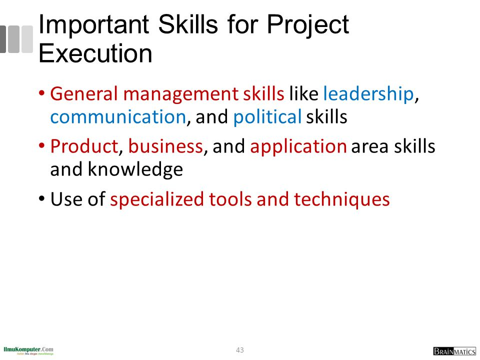 Important Skills for Project Execution