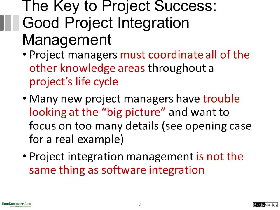 The Key to Project Success: Good Project Integration Management