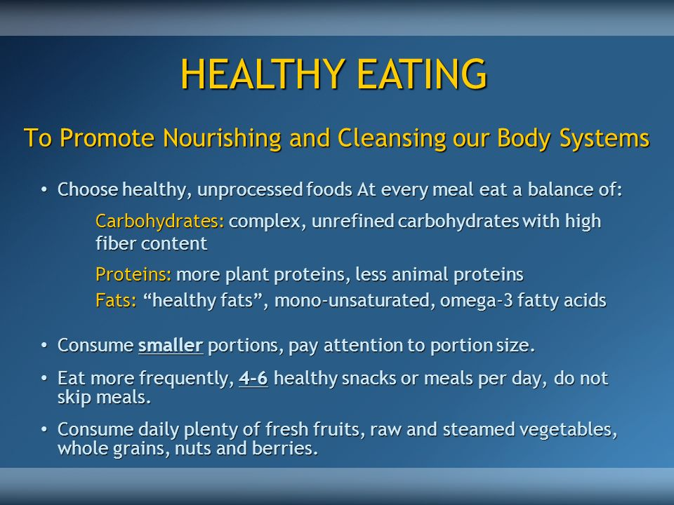 To Promote Nourishing and Cleansing our Body Systems