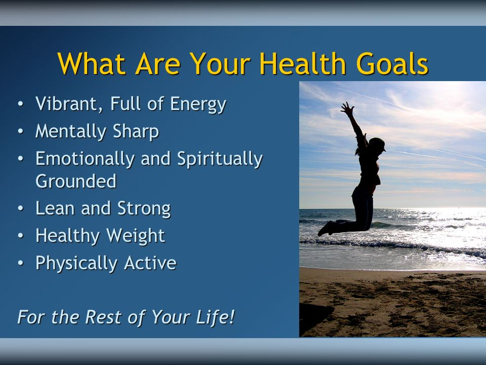 What Are Your Health Goals