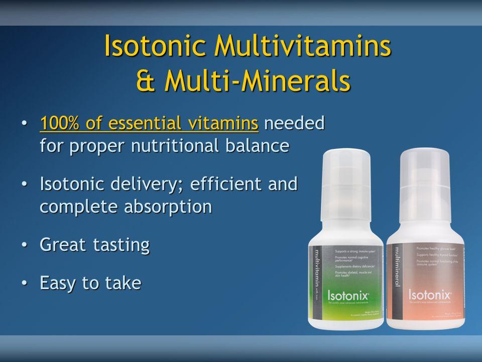 Isotonic Multivitamins & Multi-Minerals