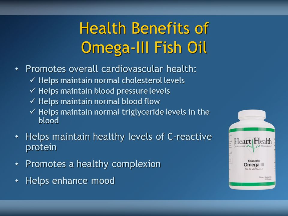 Health Benefits of Omega-III Fish Oil