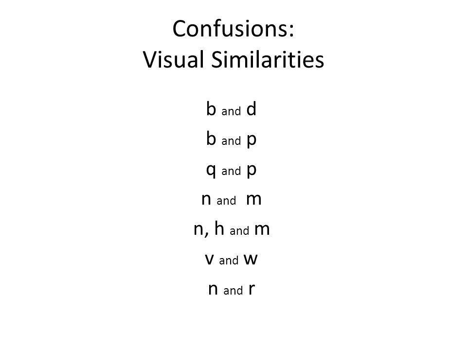 Confusions: Visual Similarities