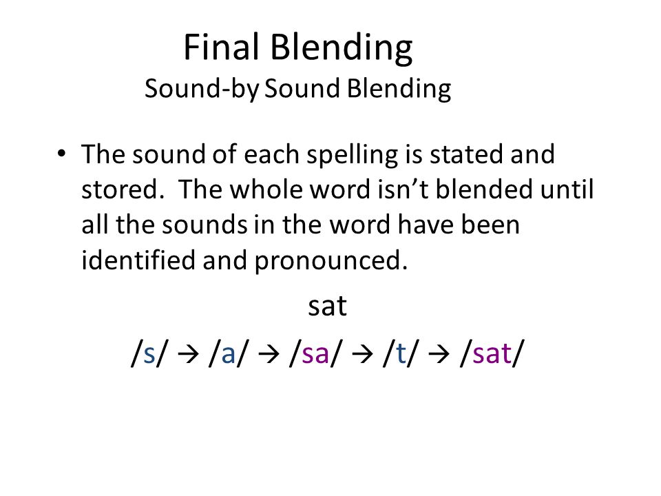 Final Blending Sound-by Sound Blending