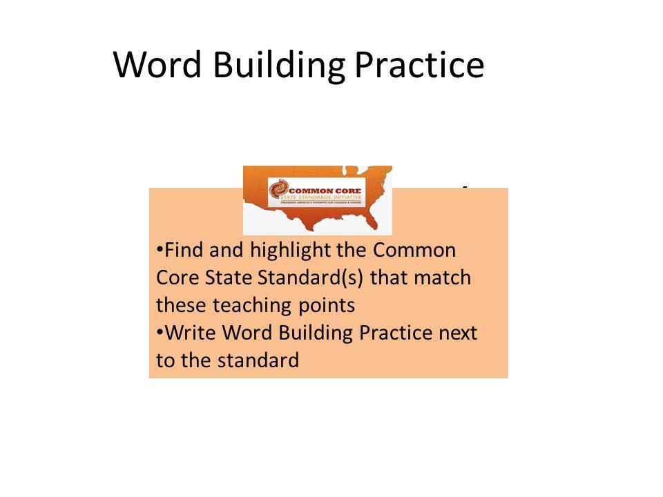 Word Building Practice