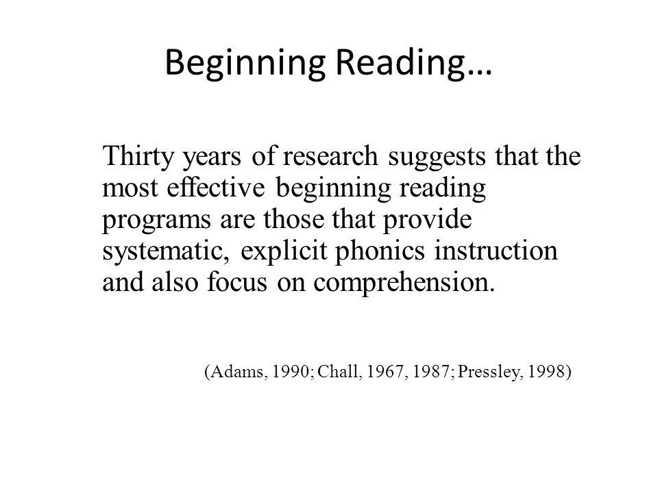 Beginning Reading…