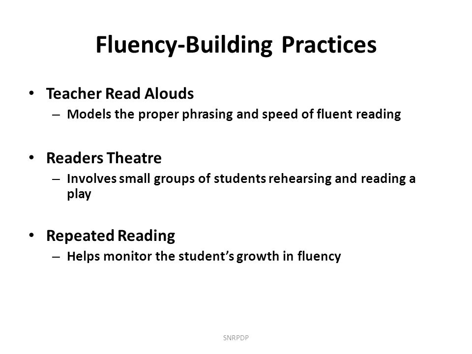 Fluency-Building Practices
