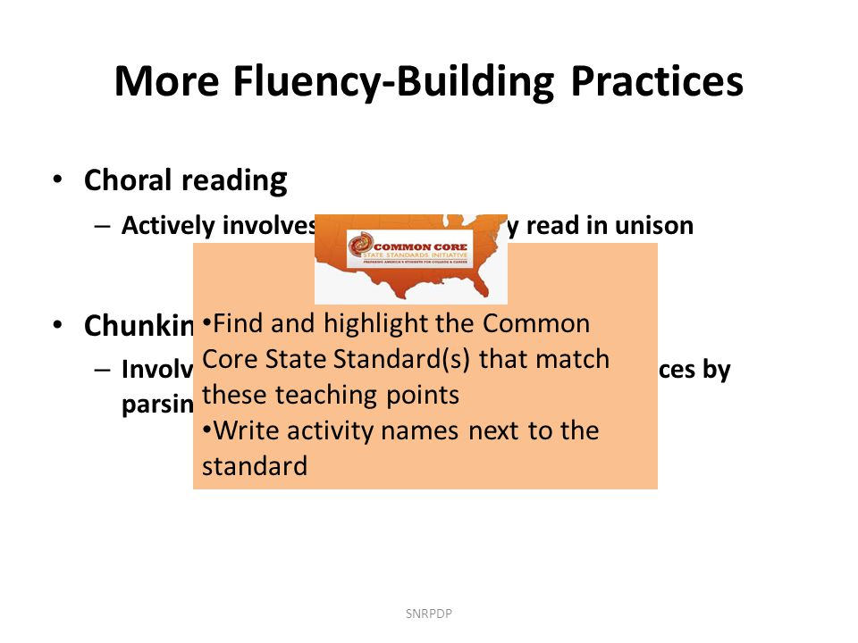More Fluency-Building Practices