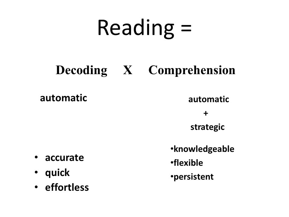 Decoding X Comprehension