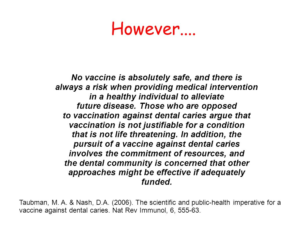 However.... No vaccine is absolutely safe, and there is