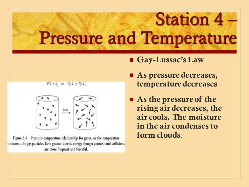Station 4 – Pressure and Temperature
