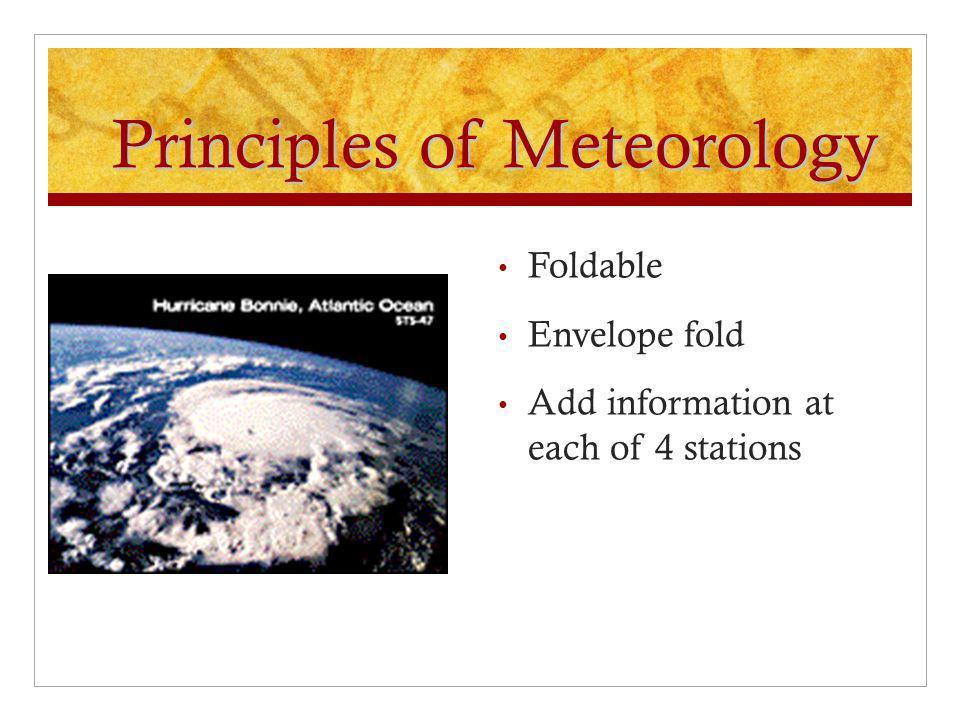 Principles of Meteorology