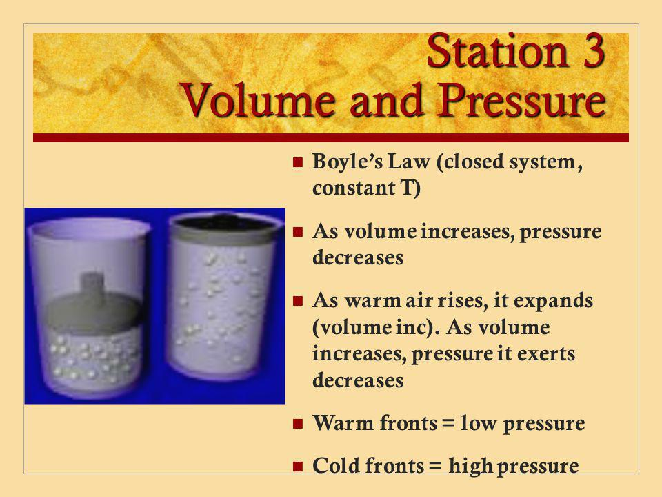 Station 3 Volume and Pressure