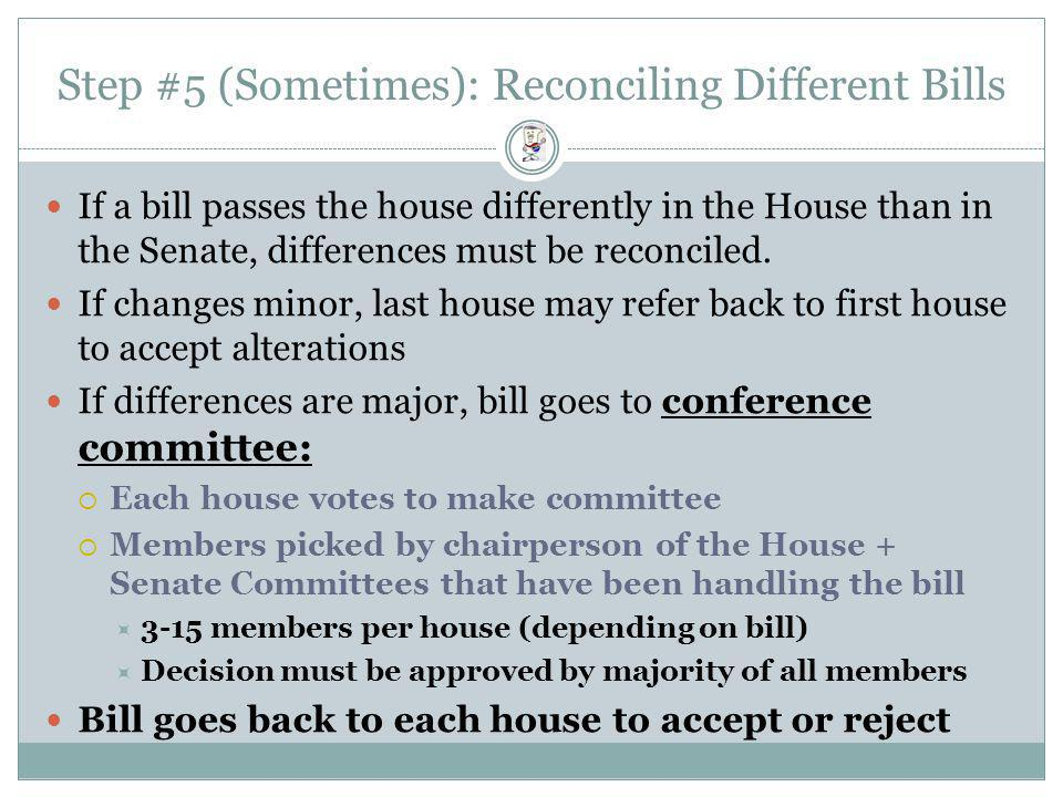 Step #5 (Sometimes): Reconciling Different Bills