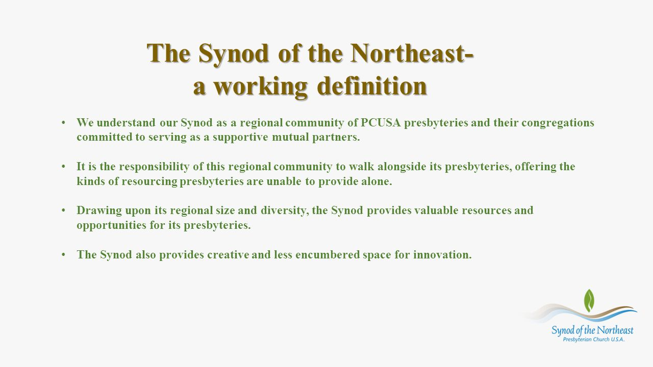 The Synod of the Northeast-