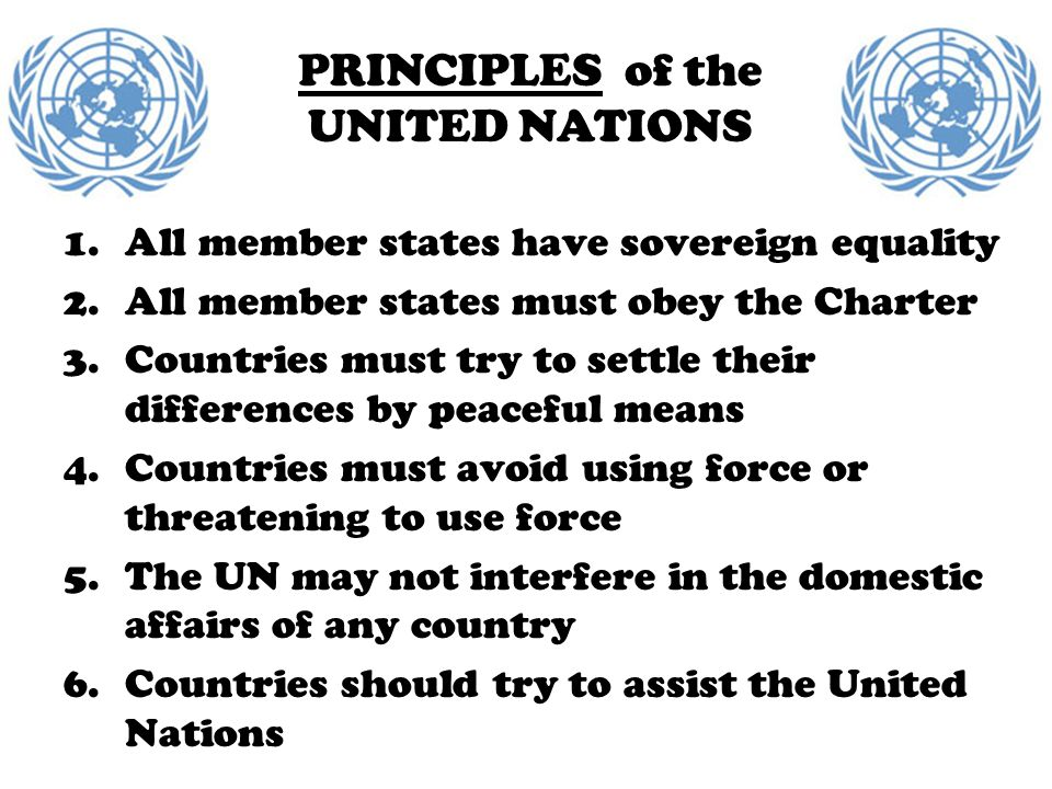 PRINCIPLES of the UNITED NATIONS