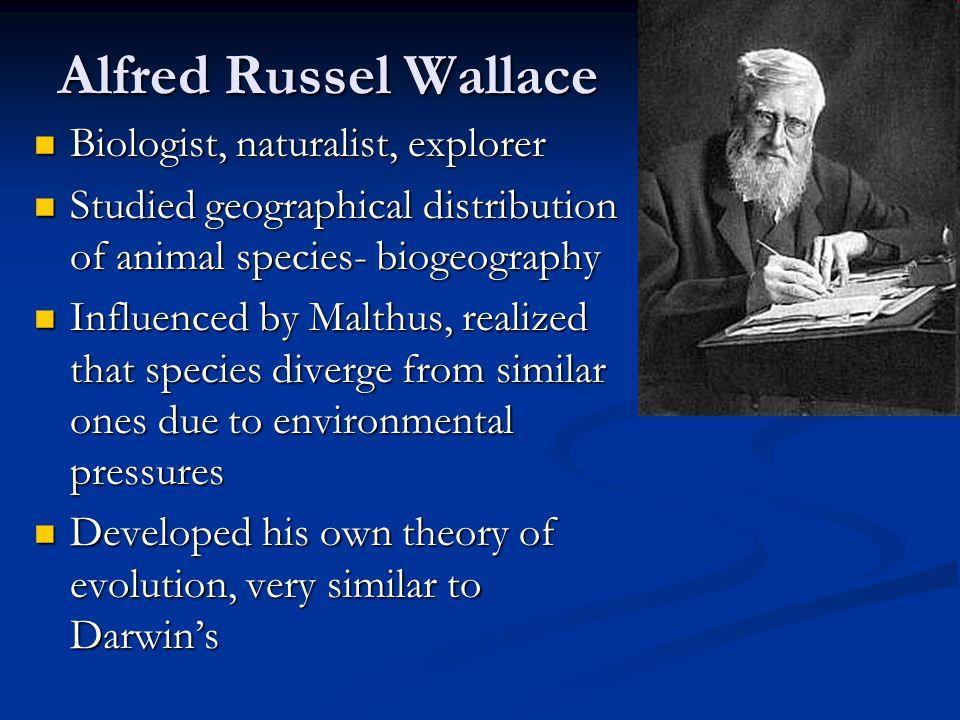 Alfred Russel Wallace Biologist, naturalist, explorer