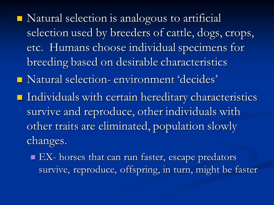 Natural Selection And The Traits Of Individual Organisms