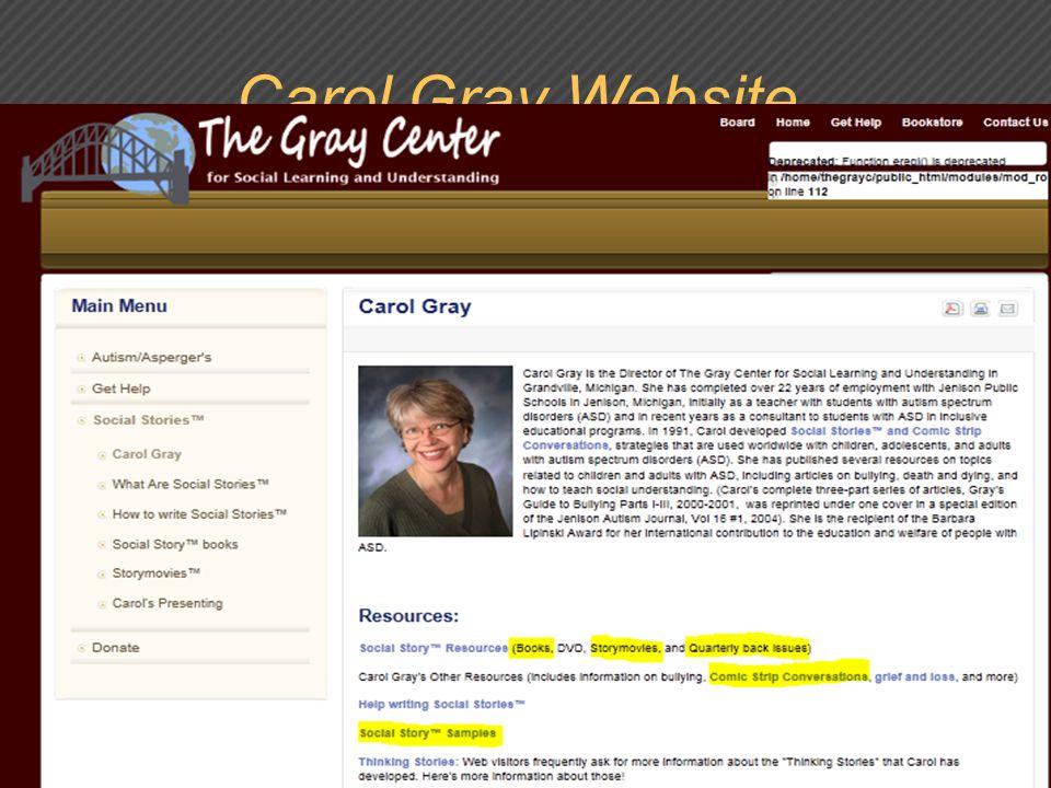 Carol Gray Website,