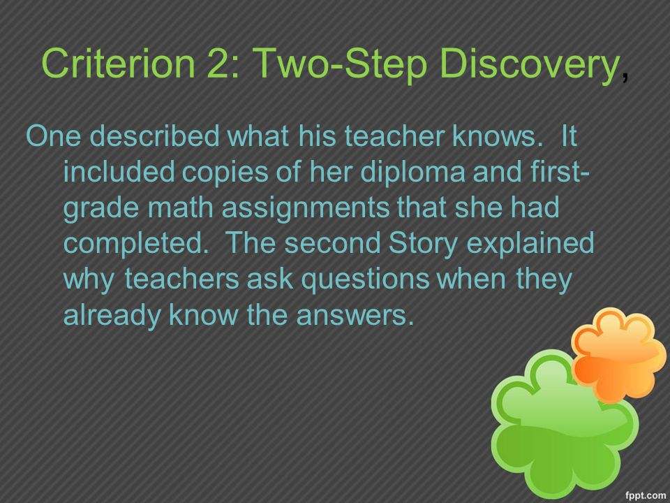 Criterion 2: Two-Step Discovery,