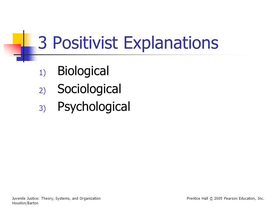 3 Positivist Explanations