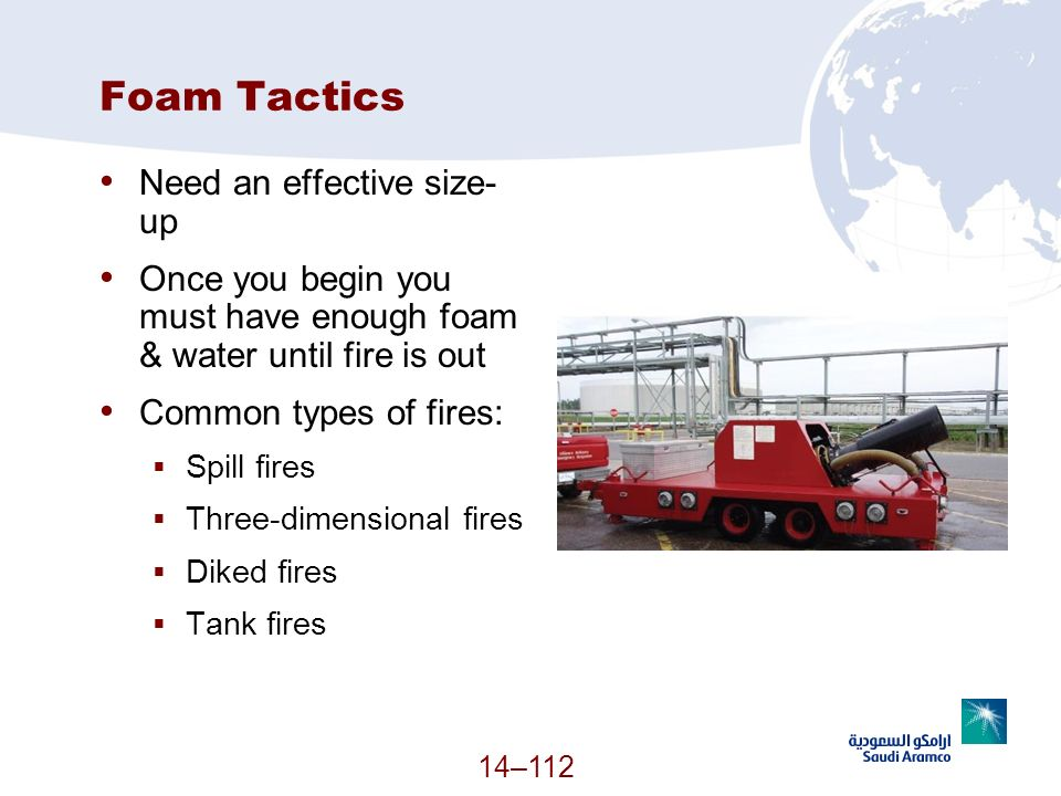 Foam Tactics Need an effective size-up