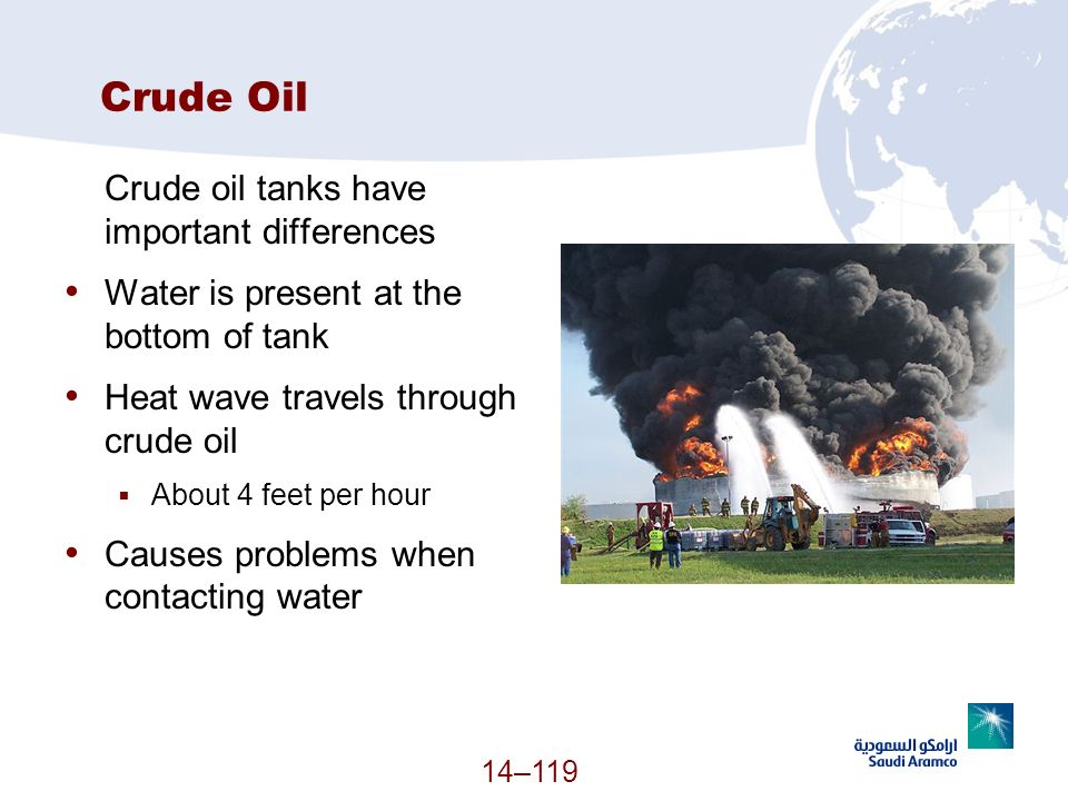 Crude Oil Crude oil tanks have important differences