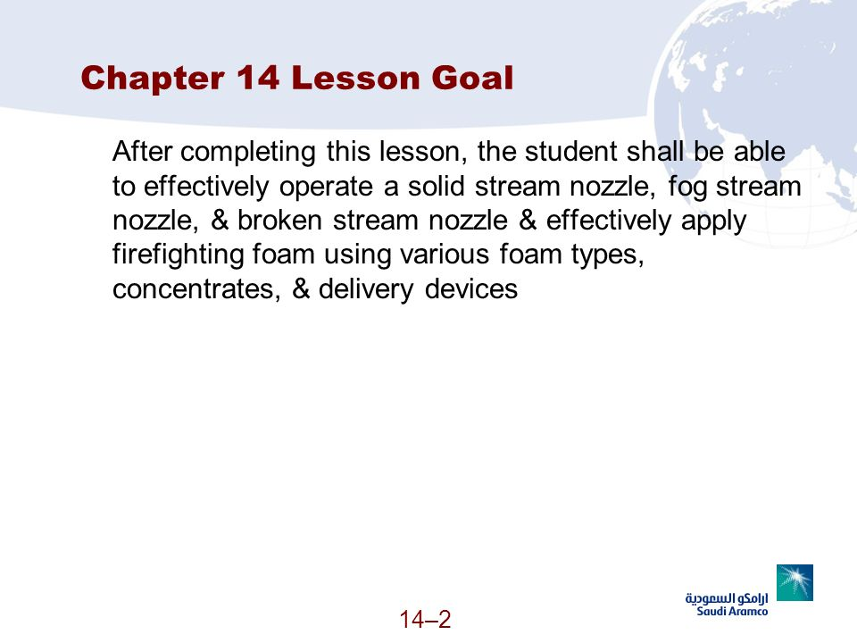 Chapter 14 Lesson Goal
