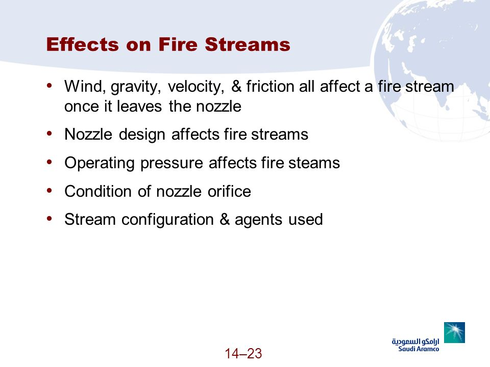 Effects on Fire Streams